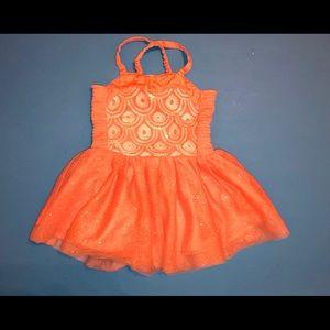 Genuine kid from Oshkosh coral pink dress